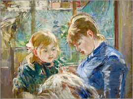 Berthe Morisot - Julie with her Nanny