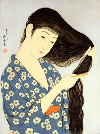 Goyo Hashiguchi - Young woman combing her hair