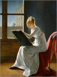 Marie-Denise Villers - Young Woman Drawing