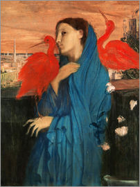 Edgar Degas - Young Woman with Ibis