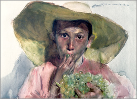 Joaquin Sorolla y Bastida - Boy Eating Grapes