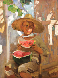 Joaquin Sorolla y Bastida - Boy with watermelon