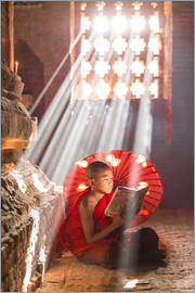 Young monk in Bagan, Myanmar