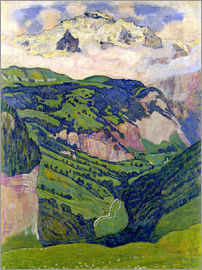 Ferdinand Hodler - Jungfrau mountain, seen from Isenfluh