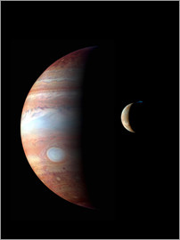 Stocktrek Images - Jupiter and its volcanic moon Io