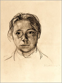 Käthe Kollwitz - Käthe Kollwitz with loose hair