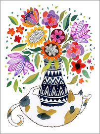 Janet Broxon - Calico Cat Bouquet