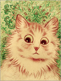 Louis Wain - Cat head paisley