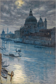 Sir Edward John Poynter - the Grand Canal and the church of Santa Maria della Salute