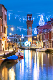 Matteo Colombo - Canal in Murano at Christmas, Venice