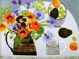 Vanessa Bowman - Nasturtiums and Gooseberries