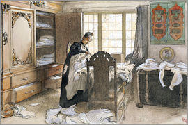 Carl Larsson - Karin by the Linen Cupboard, 1906