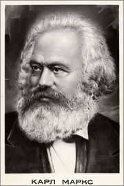 Russian School - Retrato de Karl Marx