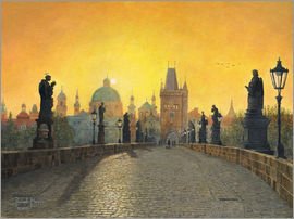Richard Harpum - Misty Dawn, Charles Bridge, Prague