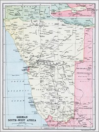 Ken Welsh - Map Of German South-West Africa
