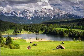 Dennis Fischer - Karwendel mountains with lake in the Alps