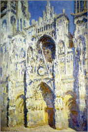 Claude Monet - Rouen Cathedral, with tower Saint-Romain in sunlight