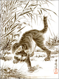 Kawanabe Kyosai - Cat Catching a Frog