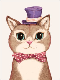 Greg Abbott - Cat in the purple hat