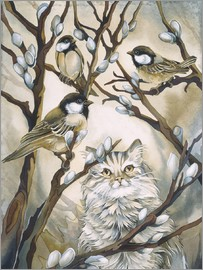 Jody Bergsma - Cat and birds