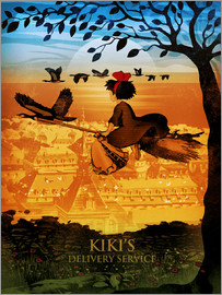 Albert Cagnef - KIKI's Delivery Service Poster Lounge