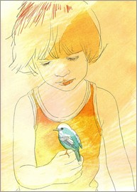 Sabine Israel - child with bird