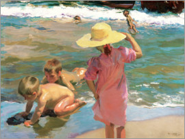 Joaquin Sorolla y Bastida - Children on the seashore