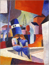 August Macke - Children at the docks, Duisburg