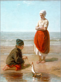 Jozef Israels - Fishermen's Children / Children of the Sea
