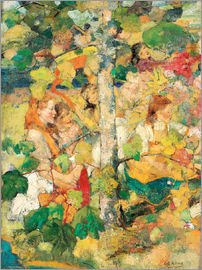 Edward Atkinson Hornel - Children Dancing Around a Tree