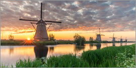 Dennis Stracke - Kinderdjik Sunrise Windmills Holland