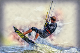 Peter Roder - Kitesurfer on waves