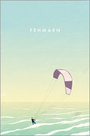 Katinka Reinke - Kitesurfer on Fehmarn illustration