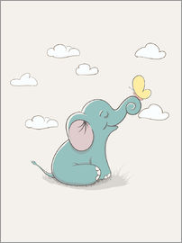 Kidz Collection - Little elephant with butterfly
