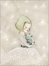 Paola Zakimi - Little girl with kitten
