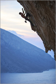 Climber in the sunset