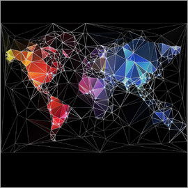 Triangular World Map