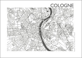 44spaces - COLOGNE MAP steelgrey