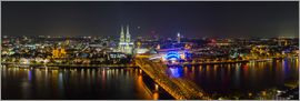 rclassen - Cologne Night skyline panorama