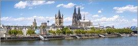 Jan Christopher Becke - Cologne Rheinufer with cathedral and town hall