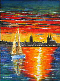 siegfried2838 - Cologne sailboat sunset painting