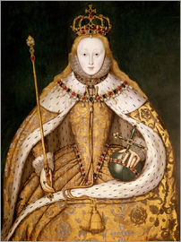 English School - Queen Elizabeth I in Coronation Robes