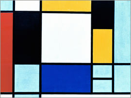 Piet Mondrian - Composition with Yellow, Red, Black, Blue and Grey / 1920