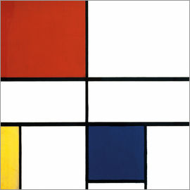 Piet Mondrian - composition c no iii with red yellow and blue