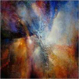 Annette Schmucker - Composition in brown and blue