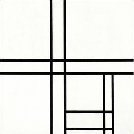 Piet Mondrian - Composition in White, Black, and Red