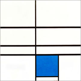 Piet Mondrian - Composition with blue, 1935