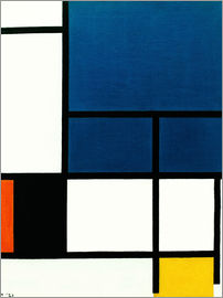 Piet Mondrian - Composition with big blue surface