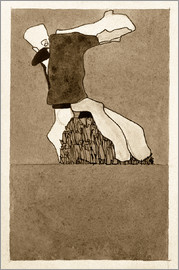 Egon Schiele - Composition with two figures