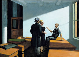 Edward Hopper - conference at night